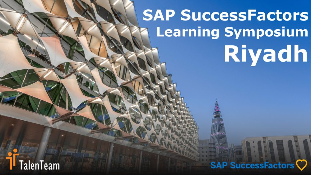 The SAP SuccessFactors Learning Symposium