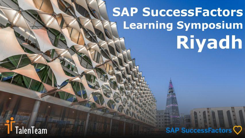 The SAP SuccessFactors Learning Symposium