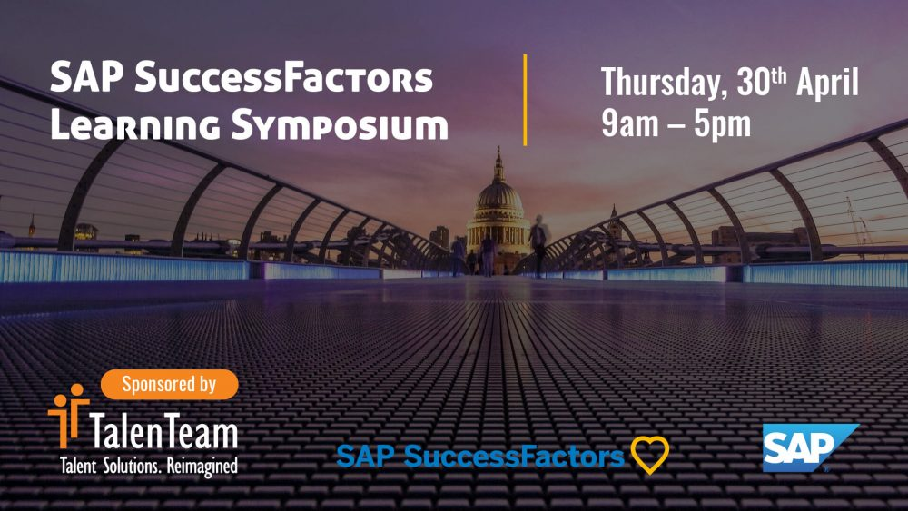 SAP SF Learning Symposium London