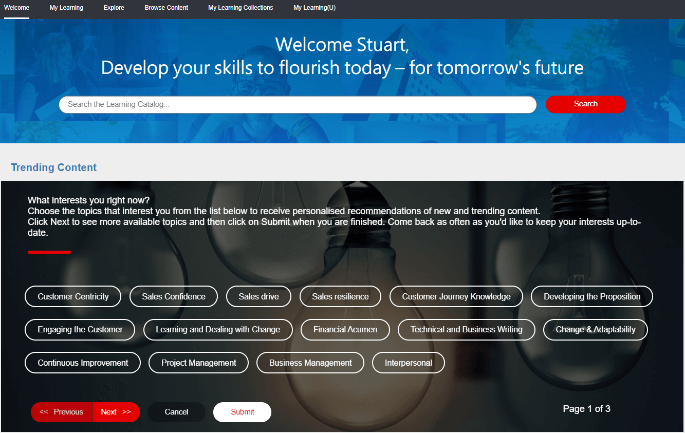 BLEND Welcome Page
