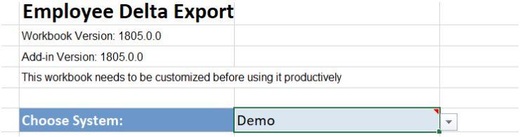 Employee Delta Export