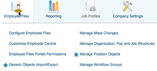 generic object data employee central dashboard