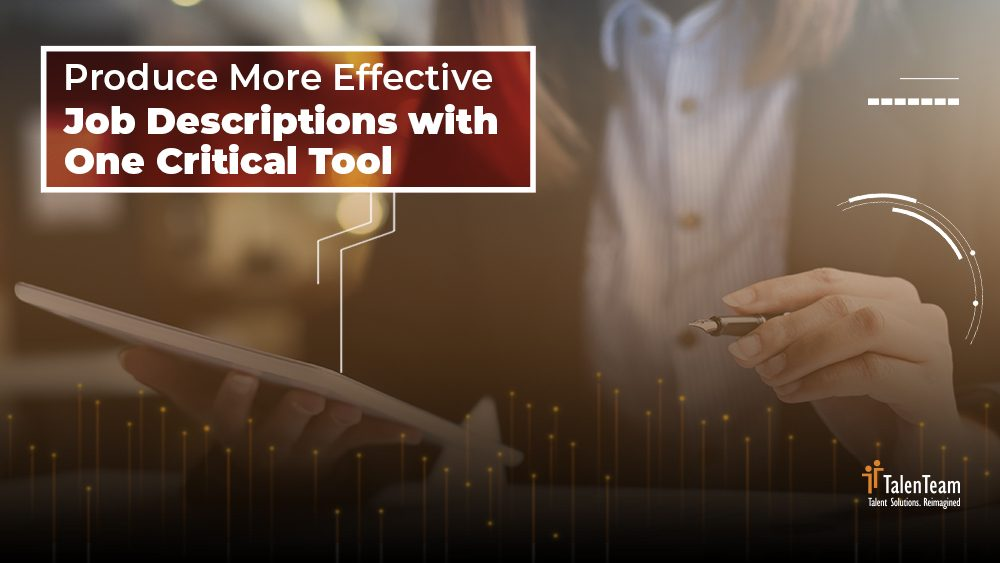 Webinar - Produce More Effective Job Descriptions With One Critical Tool
